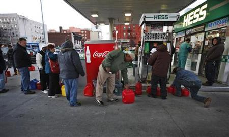 New York rations gasoline; storm victims still in the dark