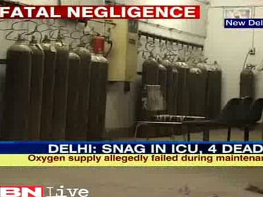 Ventilator snag leaves 4 patients dead in Delhi hospital