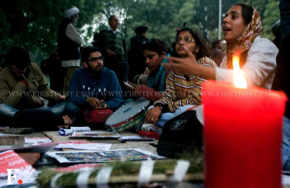 Protesters at Jantar Mantar. Naresh Sharma/Firstpost