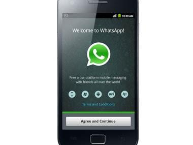 A screengrab of Whatsapp app.