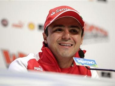 Ferrari Formula One driver Massa of Brazil looks on during a news conference at the Wrooom, F1 and MotoGP Press Ski Meeting, Ducati and Ferrari's annual media gathering, in Madonna di Campiglio. Reuters