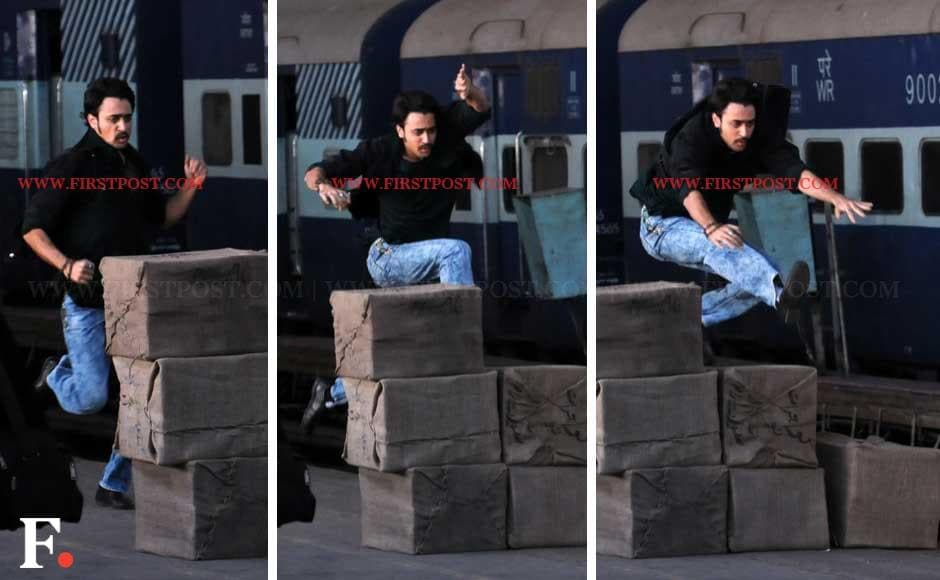 Imran Khan shoots for an action sequence in Mumbai Central on Friday. Sachin Gokhale/Firstpost
