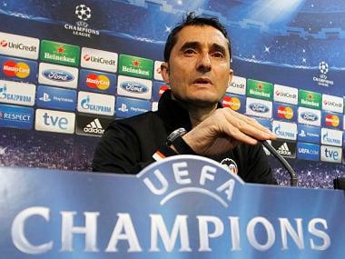 Valencia's coach Ernesto Valverde. Reuters
