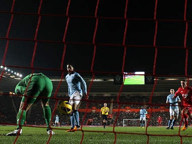 Joe Hart made a blunder which resulted in a goal. Getty Images