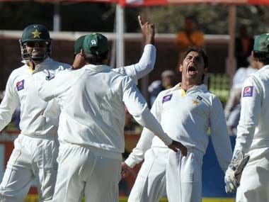 Saeed Ajmal took all five South Africa wickets to fall. AFP
