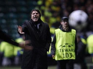 Juventus' coach Antonio Conte reacts during their Champions League game against Celtic. Reuters