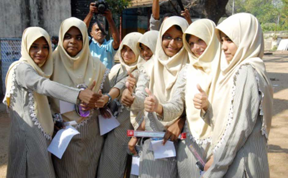 We're excited: Girl students after their CBSE exam in Chennai. Firstpost