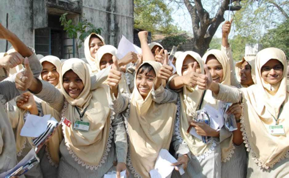 Three cheers: It seems the exam went well for these students. Firstpost