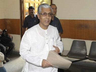 File image of Manik Sarkar. AFP