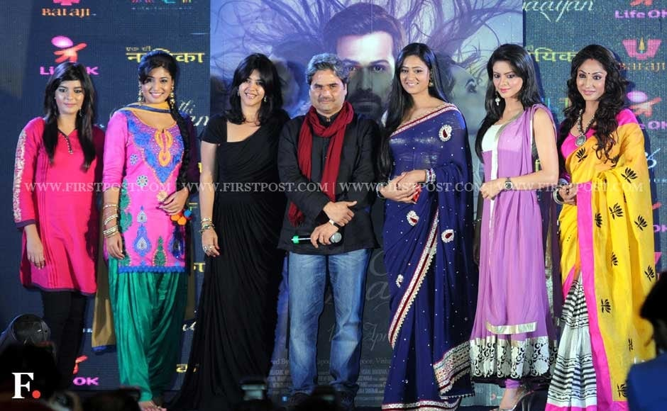 Ekta Kapoor with Vishal Bhardwaj come together with top television actresses during the launch of Ek Thi Naayka. Sachin Gokhale/Firstpost