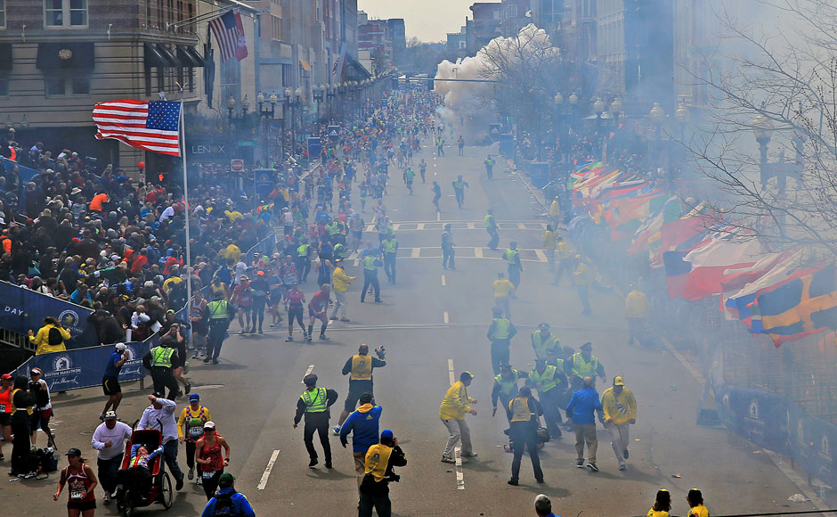 Boston Marathon Explosions. AP