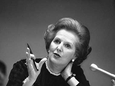 Former British PM Margaret Thatcher. AP