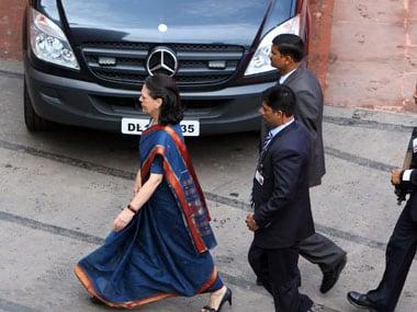 Congress President Sonia Gandhi.