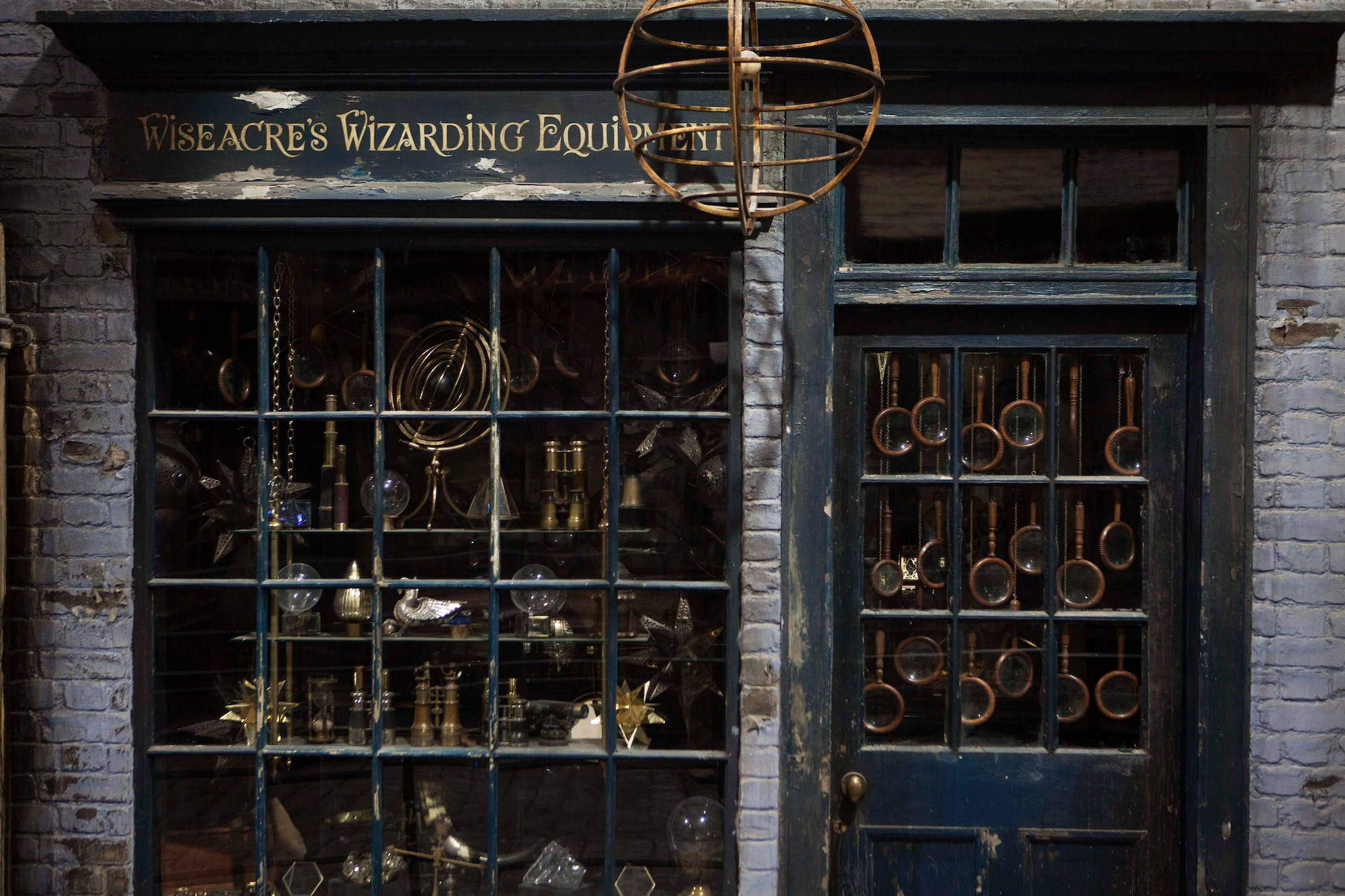 """A storefront is seen in """"Diagon Alley"""" during a media viewing tour of the set of the Harry Potter films at the Warner Bros. Studio Tour in Leavesden"""