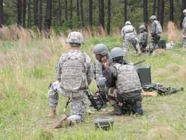 Military exercise. Image courtesy Indian Army