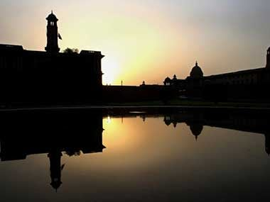 The South and North Block  of Rashtrapati Bhavan are seen in this file photo. Representational Image. AFP