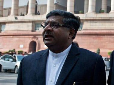 Ravi Shankar Prasad. AFP