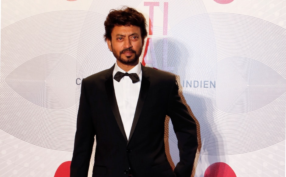 "Actor Irrfan Khan poses as he arrives at the evening's gala of the film ""Bombay Talkies"" celebrating a hundred years of Indian cinema, during the 66th Cannes Film Festival in Cannes May 19, 2013. Reuters"