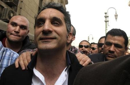 Bassem Youssef, Egypt's best known satirist. Reuters image