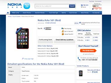 Nokia Asha 501 pre-bookings open in India, price is Rs 5199