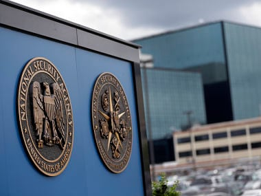 File photo of a sign stands outside the National Security Administration (NSA) campus in Fort Meade, Md. AP