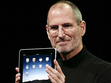 Steve Jobs at the iPad launch in 2010. AFP