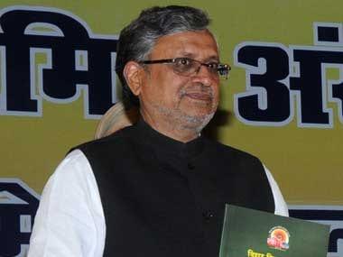 A file photo of Bihar Deputy Chief Minister Sushil Kumar Modi. Image courtesy PIB