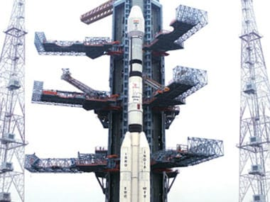 Pictured: the Satish Dhawan Space Centre, the main launch centre of ISRO. PTI