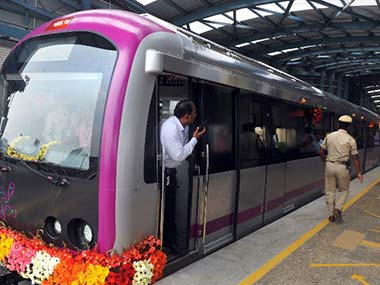 Bangalore Metro is seen in this file photo. Image used for representational purposes only. AFP