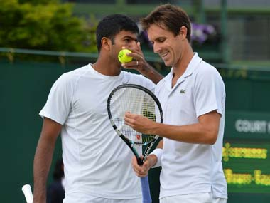 Bopanna and his partner saved five of the six break chances they faced while converted three of 12. AFP