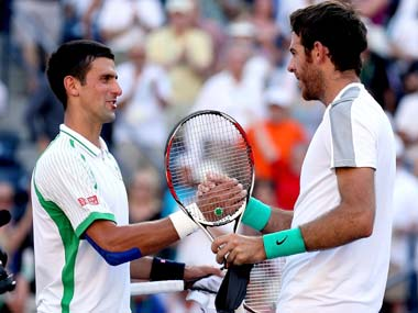 When Djokovic takes to Centre Court to play Argentine Del Potro, it will be his 13th successive semi-final at a major. Getty Images