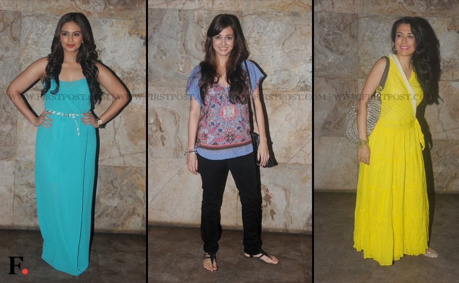 Huma Qureshi, Dia Mirza and Mini Mathur attend special screening of D-Day. Sachin Gokhale/Firstpost
