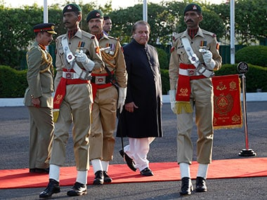 Nawaz Sharif during his swearing in-ceremony. Reuters