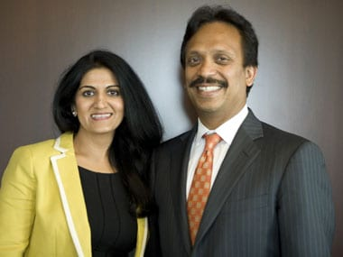 Nikki Arora, Director, marketing and global talent acquisition at UST Global and CEO Sajan Pillai see India as a source for talent and innovation. Picture: UST Global