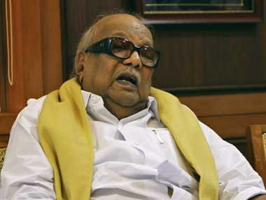DMK leader Karunanidhi. Reuters