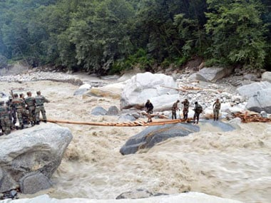 Rescue operations in Uttarakhand. AFP.