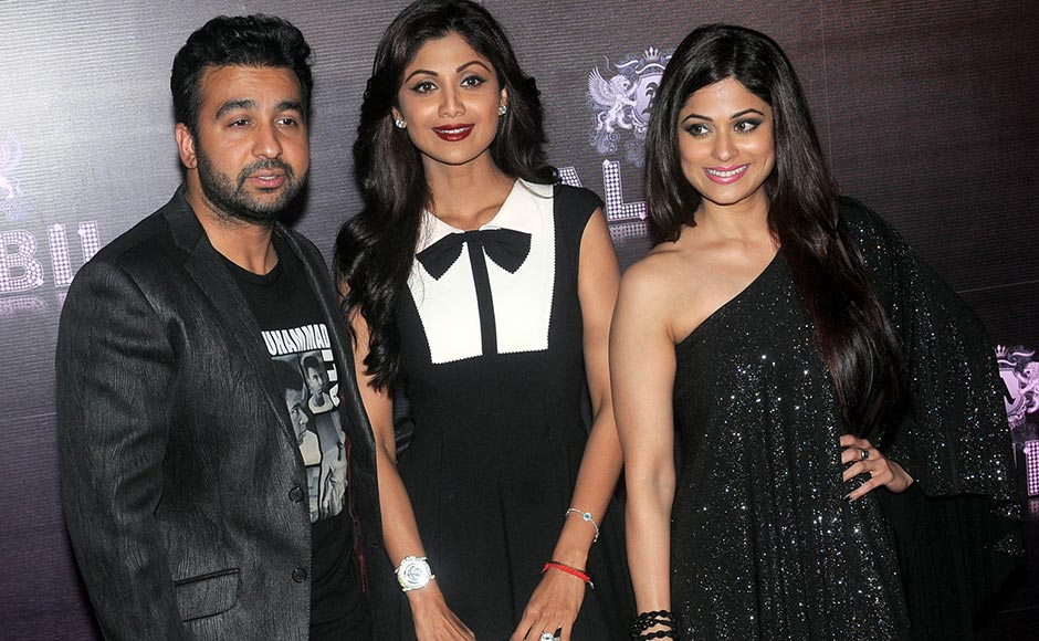 Shilpa Shetty with husband Raj Kundra and sister Shamita Shetty. Sachin Gokhale/Firstpost