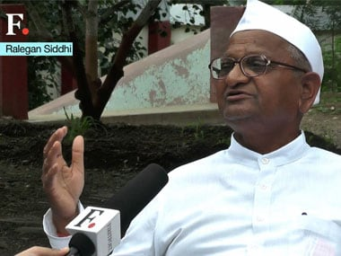 Hazare said he will respond in the manner he knew best. Screengrab from Firstpost interview