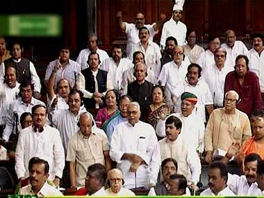 Lok Sabha adjourned for the day due to continued Opposition uproar over note ban