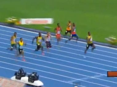 Watch Usain Bolt streak down the track to 200m gold