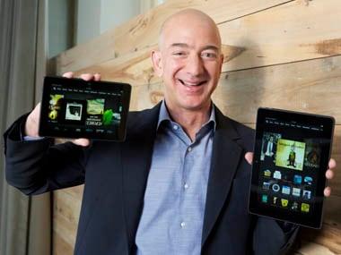 Amazon.com Founder and CEO Jeff Bezos. AP