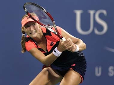 Radwanksa failed to get past the fourth round for the fourth time at Flushing Meadows. AP