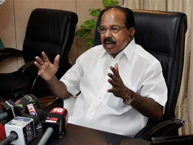 "All Karnataka seats will witness tough fight among parties"" Veerappa Moily"