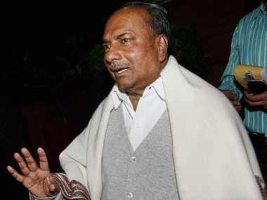 AgustaWestland has violated the VVIP chopper contract: Antony