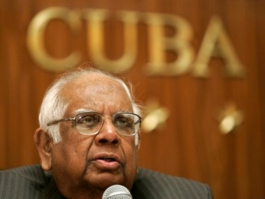 Indian Parliament Speaker Chatterjee addresses the media during a news conference in Havana