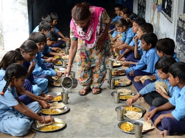 Midday meal. AFP image