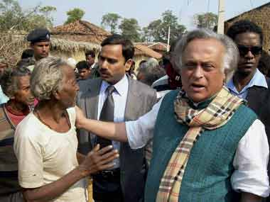 File image of Jairam Ramesh as a rural development minister. PTI