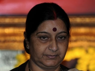 Don't fritter away votes on small parties: Sushma Swaraj tells Delhi voters
