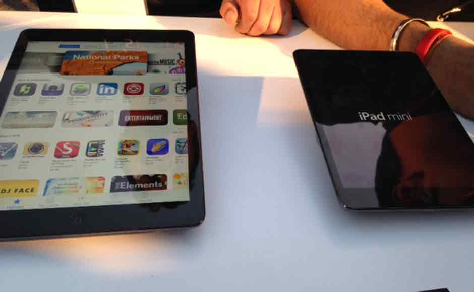 Apple today launched the iPad Air in India at a starting price of Rs 35,900. Image: Shruti Dhapola/Firstpost