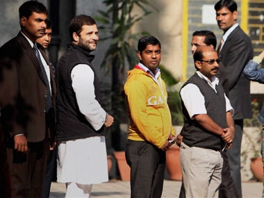 Delhi elections: Rahul interacts with first time voters while waiting to vote